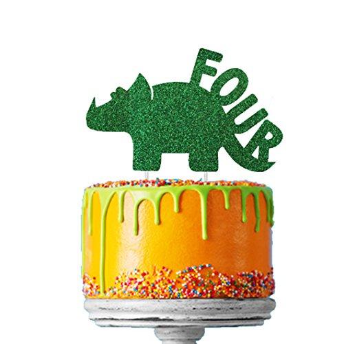 Decoración para tarta con diseño de dinosaurio y número ...
