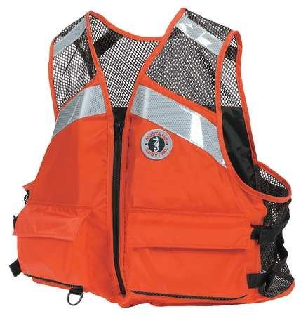 Mustang Life Jacket, 2XL/3XL, Orange