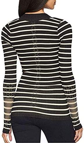 Free People Womens Slay Striped 1//4 Zip Pullover Top
