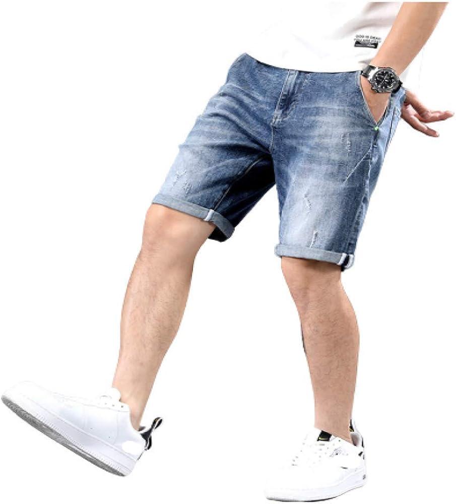 Pantalones Cortos para Hombres Pantalones Cortos de Mezclilla ...