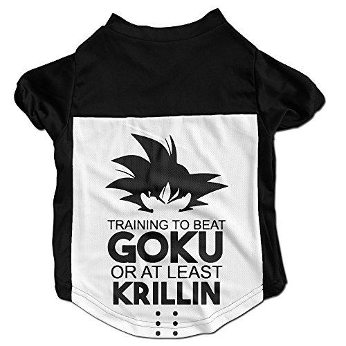 Dragon Ball Costumes Xenoverse (101Dog BEAT GOKU OR KRILLIN Pet Puppy Clothes Jersey Shirts Large)