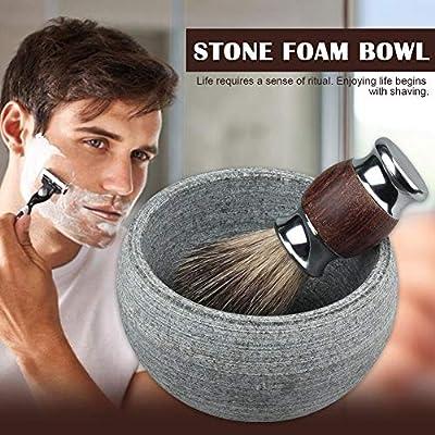 Allowevt Tazón de Crema de jabón de Afeitar para Hombres ...