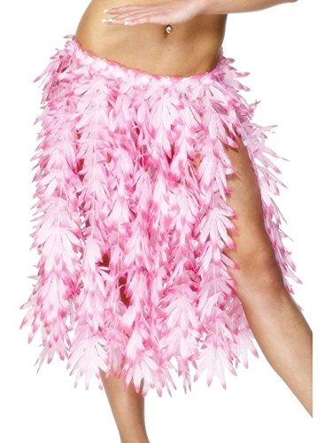 Hula Halloween Skirt (Smiffy's Women's Hawaiian Hula Skirt, Pink, One Size, 28966)