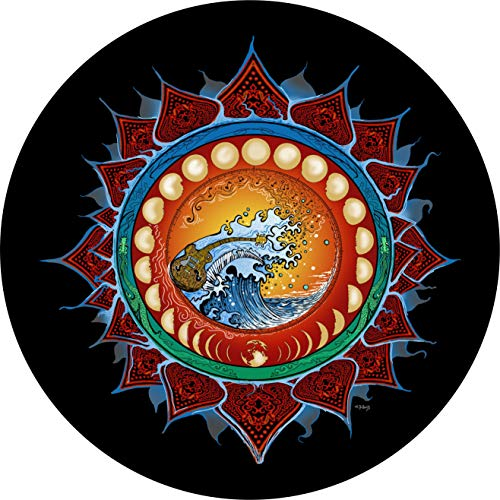 TIRE COVER CENTRAL Moon Phases Spare Tire Cover for 235/70R16 fits Camper, Jeep, RV, Scamp, Trailer(Drop Down Size menu Dubois(c)
