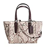 Coach Exotic Trim Python Embossed Crosby 21 Carryall F11762
