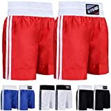 Farabi Pro Boxing Shorts for Boxing Training Punching, Sparring Fitness Gym Clothing Fairtex jiu jitsu MMA Muay Thai Kickboxing Equipment Trunks (Red, S)