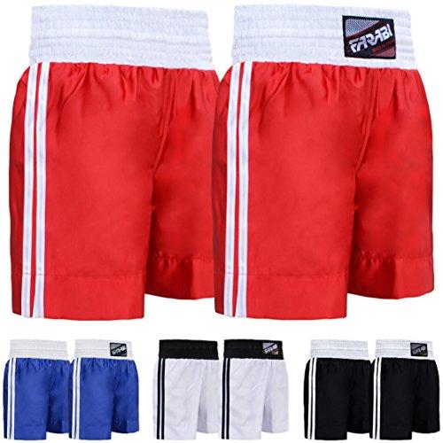 (Farabi Pro Boxing Shorts for Boxing Training Punching, Sparring Fitness Gym Clothing Fairtex jiu jitsu MMA Muay Thai Kickboxing Equipment Trunks (Red, M))