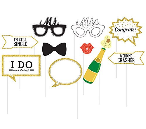 10-Piece Photo Props For Party, (Reception Decorations)