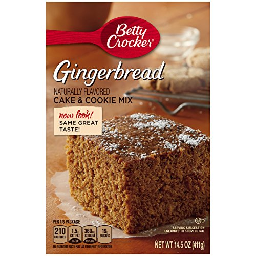 Betty Crocker Cake & Cookie Mix Gingerbread 14.5 oz Box (Desert Cookies)
