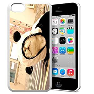 LINMM58281Animal Art Illustration Pattern HD Durable Hard Plastic Case Cover for iphone 5/5sMEIMEI