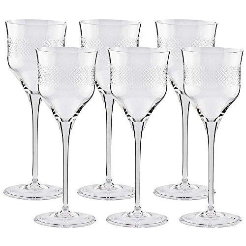 Conjunto de Taças 06 peças de 280ml para Vinho Tinto Cristal Celeste YMA4-5182 - Oxford