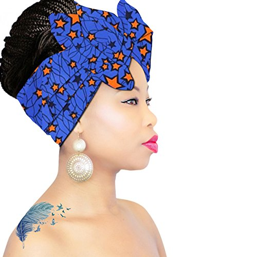Price comparison product image Royal Head Wraps Headwrap | Headband | Black HeadScarf | Hijab | Head scarves for cancer patients Hair Loss African Scarf …