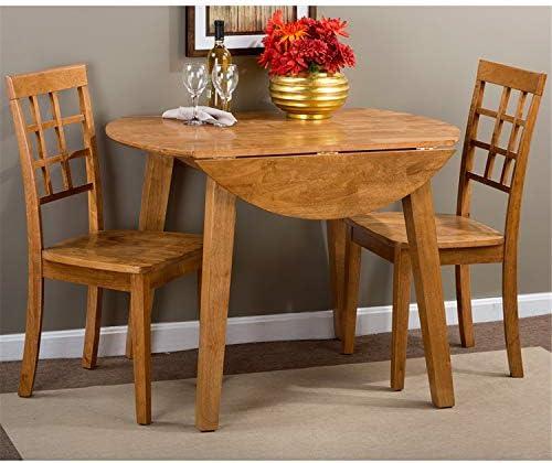 Jofran Simplicity Honey Round Drop/Leaf Dining Table