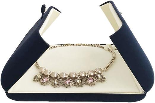 Luxury Leatherette Double Door Jewellery Shop Pendant Drop Earring Box Gift Box