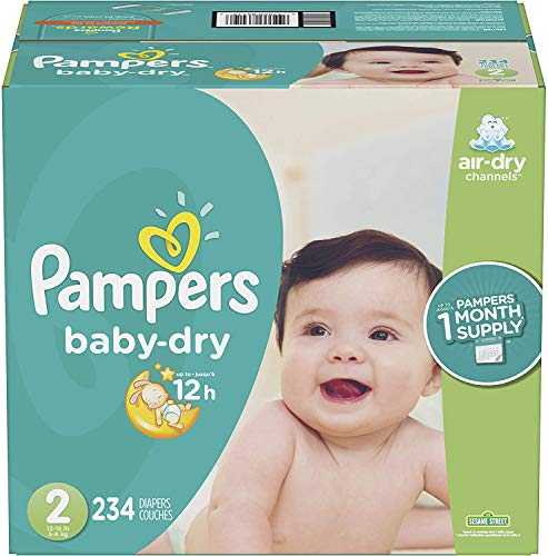 Pampers Baby-Dry – Pañales desechables, Nuevo, 2, 1