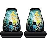 Tinkerbell Wash Highback Front Black Bucket Seat Covers S...