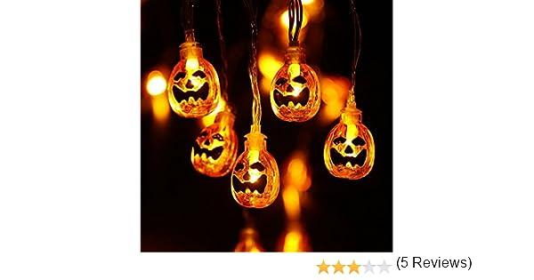 Qedertek Decoracion Halloween Ara/ña Jard/ín 2 Pack Cadena de Luces de Halloween 2.9M 20 LED Guirnalda de Luces para Exterior Decoraci/ón Halloween Hogar