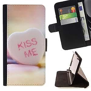 Momo Phone Case / Flip Funda de Cuero Case Cover - B?SEME Corazón - LG G4