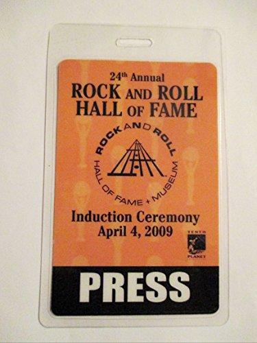 2009 Rock N Roll Hall of Fame Laminated Backstage Pass Press Metallica Jimmy Paige Jeff Beck Run DMC