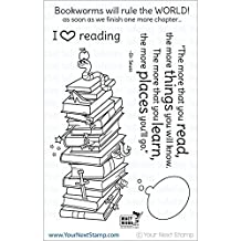 """Your Next Stamp Clear Stamps 4""""X6""""-Bookworms Rule"""