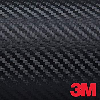 3M DI-NOC CA-421 BLACK CARBON FIBER 4ft x 1ft (4 sq/ft) Flex Vinyl Wrap