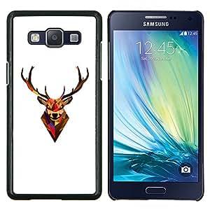 TECHCASE---Cubierta de la caja de protección para la piel dura ** Samsung Galaxy A5 ( A5000 ) 2014 Version ** --Minimalista Polígono astas de los ciervos