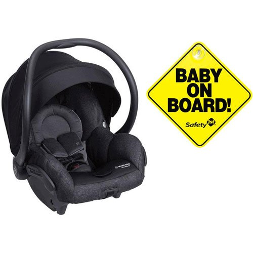 Maxi-Cosi Mico Max 30 Infant Car Seat – Nomad Black with Baby on Board Sign