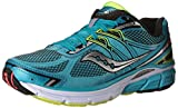 Cheap Saucony Omni 14 Narrow Women's Running Shoes Size US 7, Narrow Width, Color Blue/Black/Lime