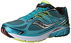 Saucony Women's Omni 14 Running Shoe, Silver/Blue/Coral, 5 M US
