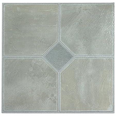 Quality 28 X Vinyl Floor Tiles Self Adhesive Kitchen Bathroom Sticky Pale Grey Classic 181