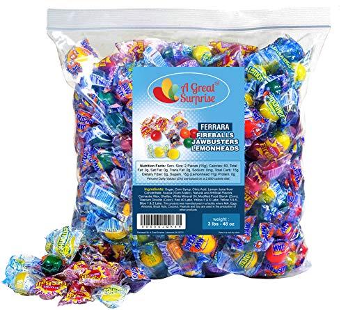 Ferrara Pan Candy (Atomic Fireballs, Jawbreakers, Lemonheads - Assorted Candy - Ferrara Pan Candy Assortment - Bulk Candy)