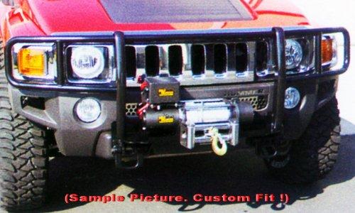 Tyger Black Grille Bumper Brush Guard Bull Bar #H74148 Custom Fit H3/H3T (W/Winch Mount) ()