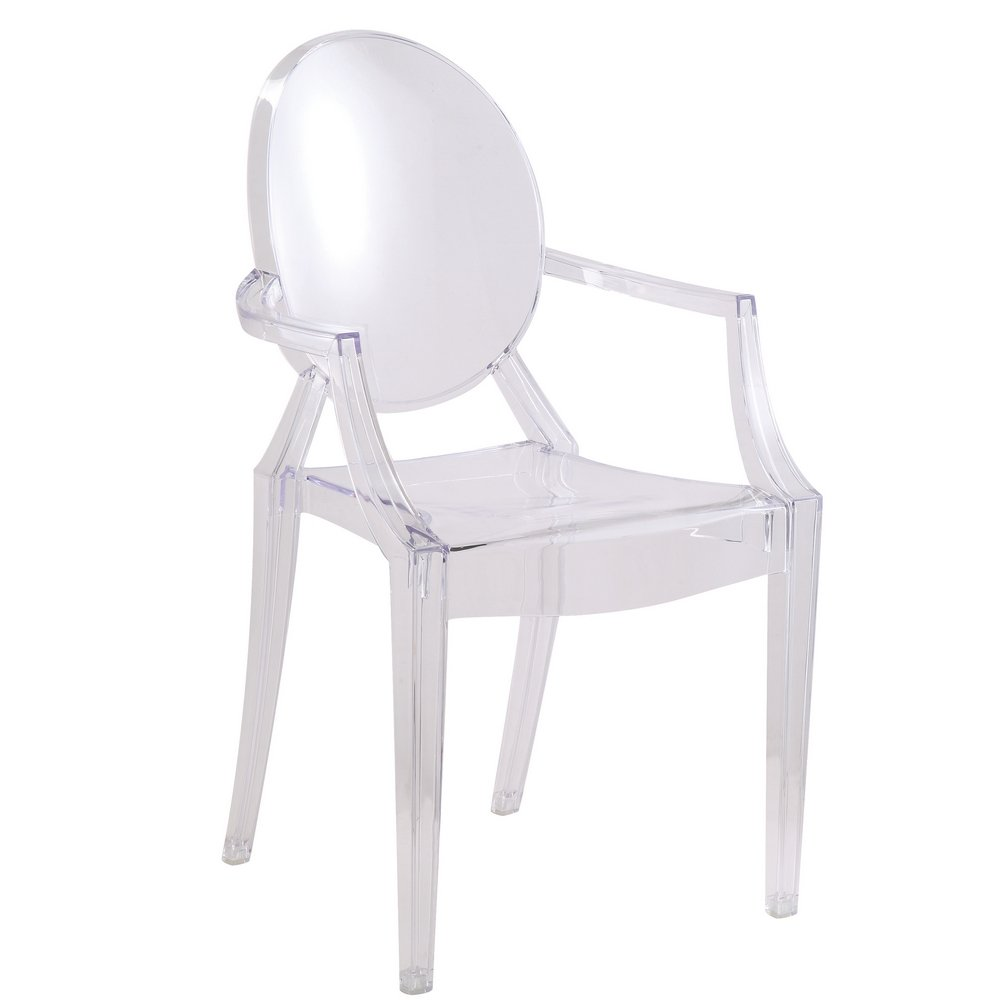 Amazon.com - Designer Modern Louis Ghost Chair - Modern Acrylic Arm Chair -  Chairs