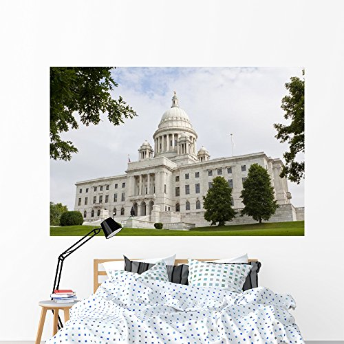 Rhode Island State House Wall Mural by Wallmonkeys Peel and Stick Graphic (72 in W x 48 in H) - Providence Island Place Rhode