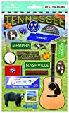 Paper House Productions Travel Tennessee 2D Stickers, 3-Pack