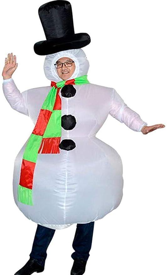 Skyiy Disfraz de muñeco de Nieve Inflable de Navidad ...