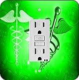 Rikki Knight 8866 Green Medical Doctor Symbol Design Light Switch Plate