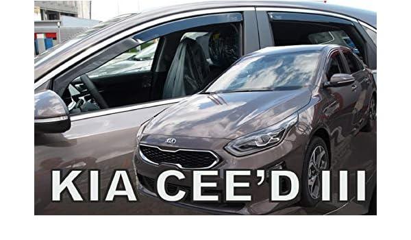 J/&J AUTOMOTIVE Derivabrisas para Kia Ceed HTB 5 puerta 2018-2020 4 piezas
