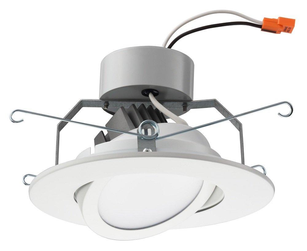 Lithonia Lighting 6 Inch LED Gimbal, Matte White, Higher Lumen Version