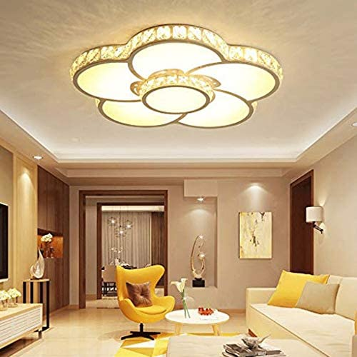 NXYJD Ceiling Light - Crystal Lampshade,Even Light Transmission, Soft and Comfortable Light, Applicable Scene: Bedroom/Study/Restaurant/Bar 50x7cm