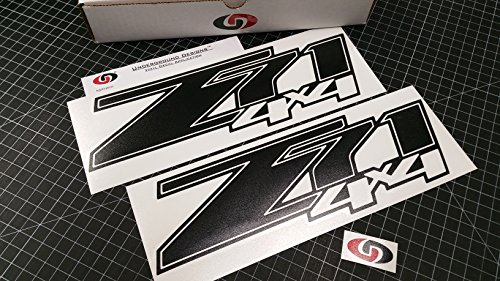 - UNDERGROUND DESIGNS Z71 4x4 Decal Chevy Fender Tailgate Sticker 2007-2013 Select Color: (Matte Blackout)