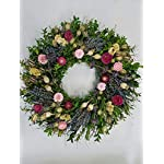XYXCMOR Artificial Vines Silk Cherry Blossom Garland Fuax Hanging Flowers Fake Wreath for Indoor Outdoor Wedding Arch Party Wall Garden Home Patio Decorations 2pcs 5.9Ft Pink
