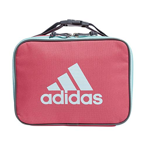 adidas Unisex Foundation Insulated Lunch Bag, Real Pink/Clear Aqua/Sundown Print, ONE SIZE
