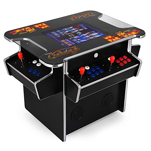 (Happybuy 3 Sided Cocktail Arcade Game Machine with 1000+ Games Full Size 19 Inch Screen Classic Arcade Game Cabinet Home Commercial Settable Cocktail Table Retro Arcade Machine (3-Sided, 1162in1))