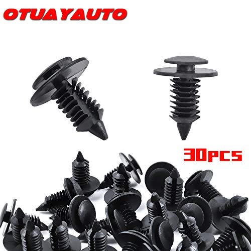 OTUAYAUTO 30PCS Door Panel Clip, Fasteners Retainer Clips for Ford All Models 1985-2019, Replace OEM: -