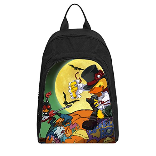 [JIUDUIDODO Custom Cool Halloween Evil Jack with Bat Oxford Fabirc School Bags Backpacks Outdoor Bags Shoulder] (Wine Bottle Costumes Halloween)