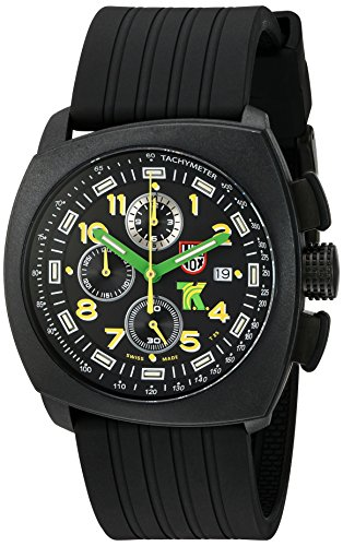 Luminox Men's 1101 Tony Kanaan Analog Swiss Quartz Resin Rubber Watch, Black