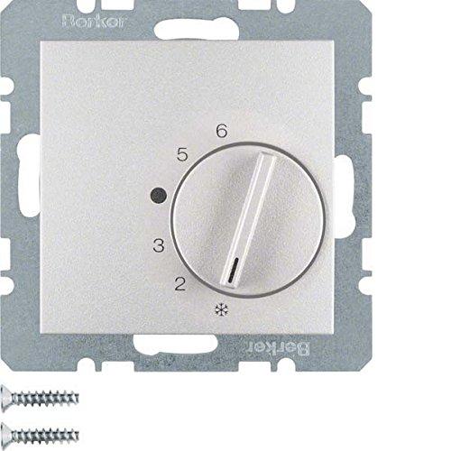 Hager-Thermostat Serie 1//B1//B3//B7/mit Switch Aluminium