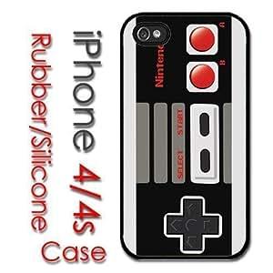iPhone 4 4S Rubber Silicone Case - Retro Nintendo Controller NES super