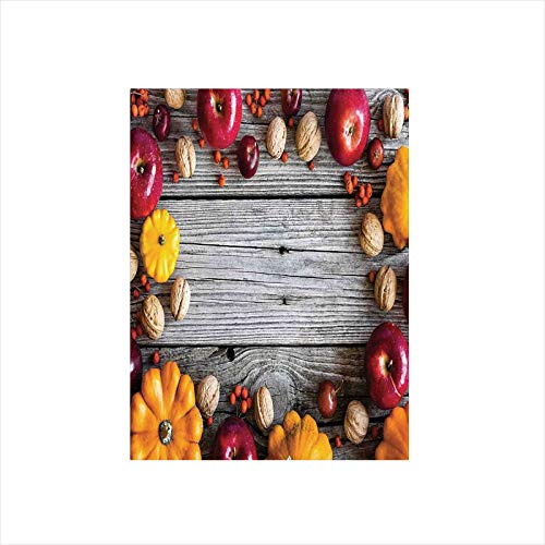 - Decorative Privacy Window Film/Natural Vegetables Walnut Wood Rustic Print Home or Cafe Kitchenware Art Apples/No-Glue Self Static Cling for Home Bedroom Bathroom Kitchen Office Decor Grey Yellow Red